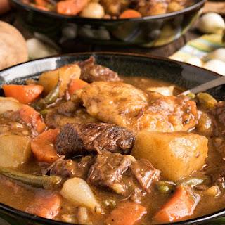 Beef Stew with Dumplings.