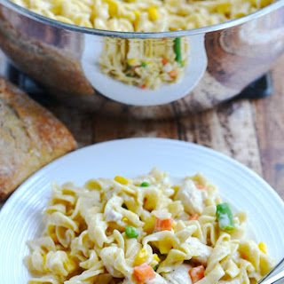 One Pot Chicken and Noodles