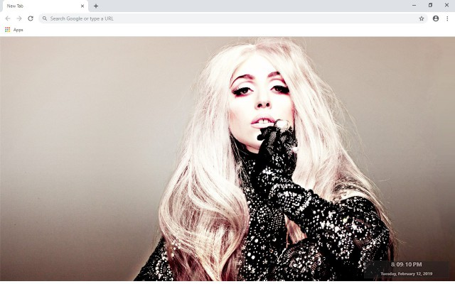 Lady Gaga New Tab & Wallpapers Collection