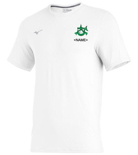 T-shirt white - Mizuno Men's Comp Diamond Short Sleeve Crew