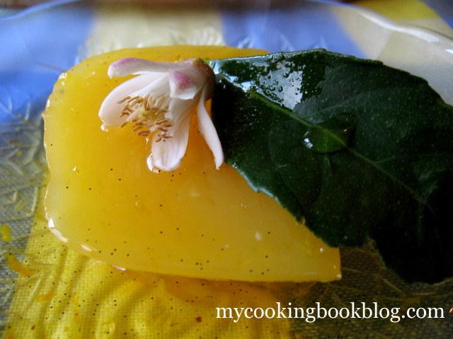 Крем (кисел) от портокали с портокалово-ванилов сос