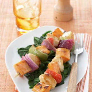 Grilled Sweet Potato Skewers with Honey Mustard