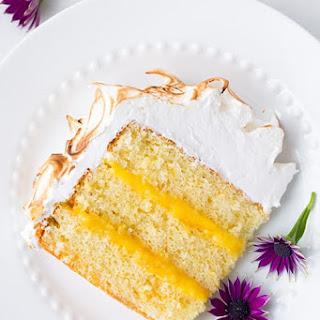 Orange Chiffon Cake with Orange Filling and Meringue.