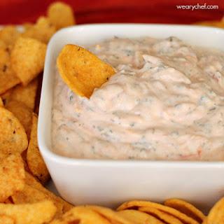 Easy Mexican Sour Cream Dip.