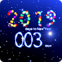 New Years countdown 2019 icon