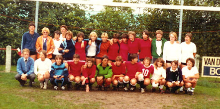 Photo: vv Vuren  afd. damesvoetbal jaren 80