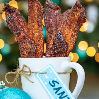Black Pepper Candied Bacon for Santa.