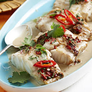 Thai-Style Fish with Coconut Sauce.
