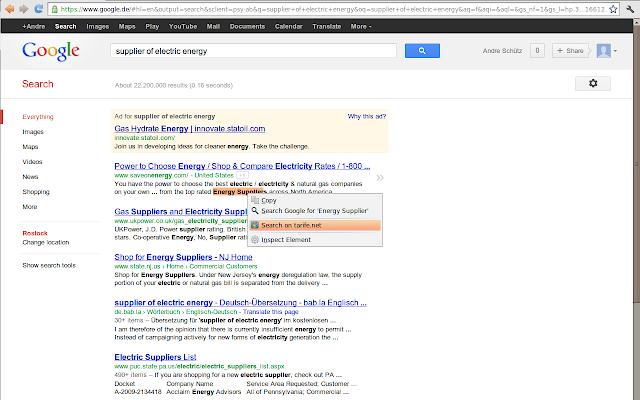 Tarife.net Simple Search