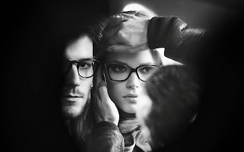 Photo: Gabriella Wilde and Roo Panes on set at the Burberry Eyewear campaign