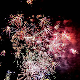 Firework Display by Lye Danny - Abstract Fire & Fireworks