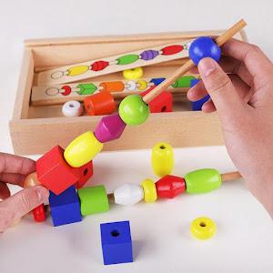 Set joc educativ - Frigarui din lemn