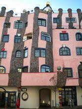 Photo: Hundertwasser building in Magdeburg