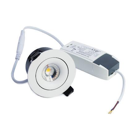 Xerolight ARC LED Downlight 7W VIT Inkl. Driver