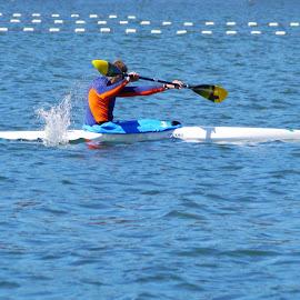 Canoeing - VI by Joatan Berbel - Sports & Fitness Watersports ( watersports, movement, sports, canoe, colorfull )