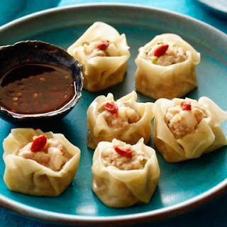 Pork and Prawn Dumplings.