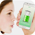 Blow To Charge Battery - Prank icon