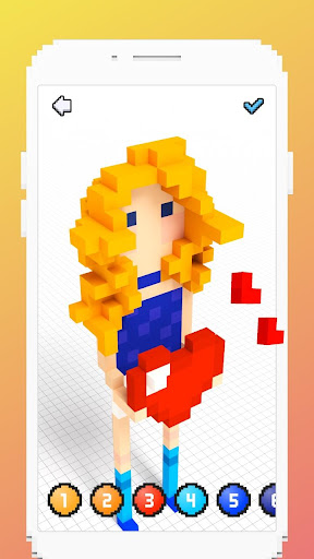 Color by Number 3D - Pixel Art Coloring Games - screenshot