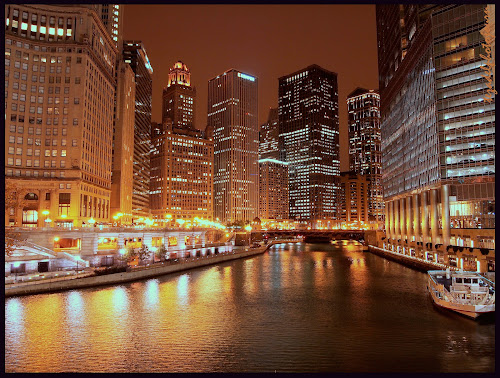 Reflections by Teza Del - Landscapes Travel ( chicago riverwalk )
