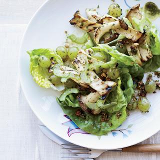 Celery, Grilled Grape and Mushroom Salad