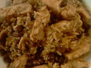 Chicken with Black bean's and Rice