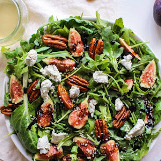 Fig Arugula Salad with Balsamic Reduction Recipe