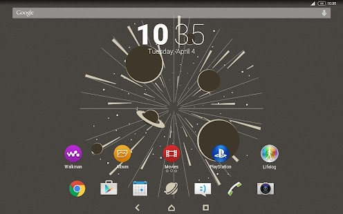 XPERIA™ Warp Drive Theme- screenshot thumbnail