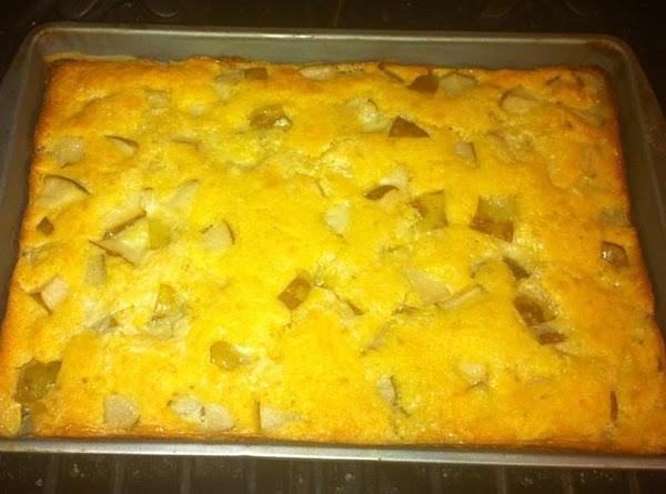 Pear Custard Cake Recipe
