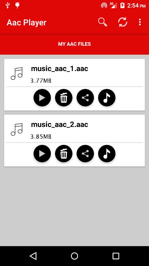 AAC Player- screenshot