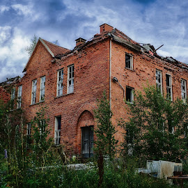 by Buffan Walter - Buildings & Architecture Decaying & Abandoned ( doors, sweden, building, school, sky,  )