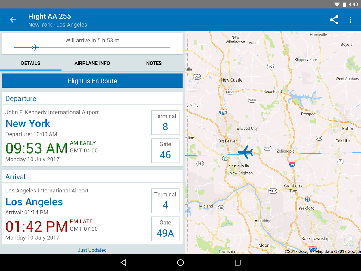 The Flight Tracker- screenshot