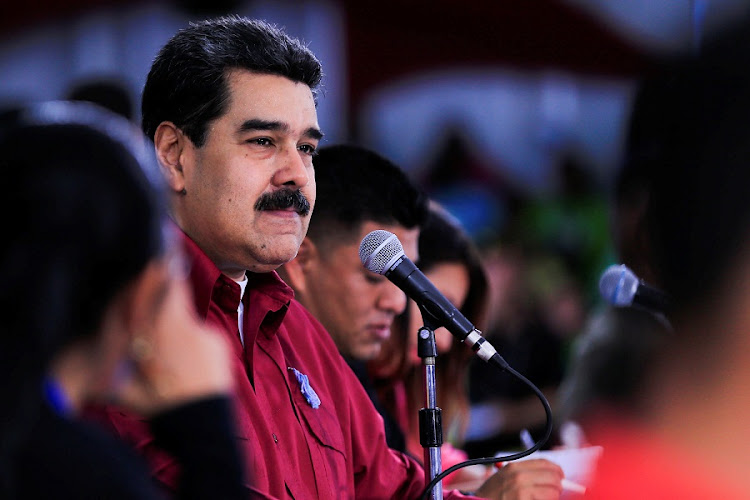 Venezuela's President Nicolas Maduro attends an event with the Youth of the Venezuela's United Socialist Party in Caracas on September 11 2018. Picture: MIRAFLORES PALACE/via REUTERS