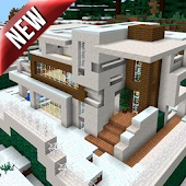 Modern Redstone House MCPE map