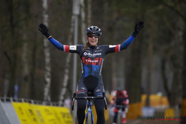 Lucinda Brand de sterkste in slotrit Tour de l'Ardèche, eindwinst is voor Amerikaanse renster van Movistar