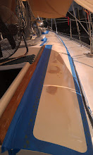 Photo: Starboard side cabin top taped off and ready for kiwi grip.