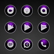 Glossy Purple Icons  Icon