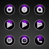 Glossy Purple Icons