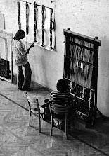 Photo: w pracowni tkackiej