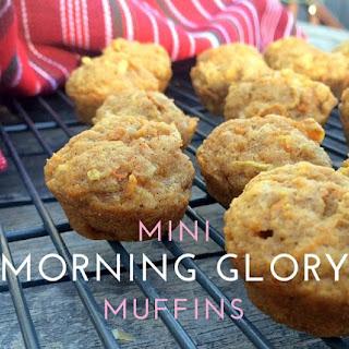 Mini Morning Glory Muffins.
