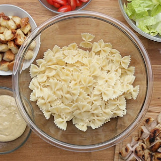 2. Chicken Caesar Pasta Salad