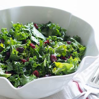 Kale Salad with Cranberries.