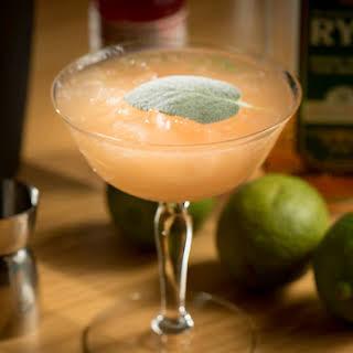 Whiskey Sage Cocktail.