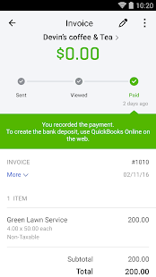 QuickBooks Accounting Invoicing Expenses Apps On Google Play - Free invoice software mac junior clothing stores online