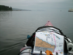 Photo: Out of the river and into Hardy Bay.