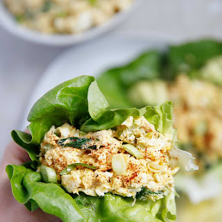 Loaded Egg Salad With Tuna.