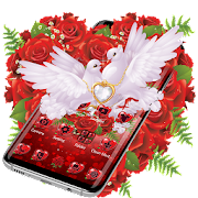 App Red Rose Pigeon Heart Theme APK for Windows Phone