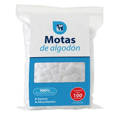 algodon farmatodo motas  100und