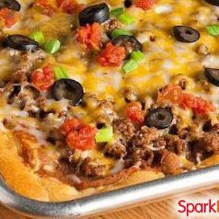 Crescent Roll Taco Pizza.