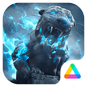 3D Theme - Roaring Lion 3D Wallpaper&Icon