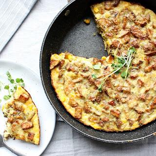 Roasted Potato and Corn Frittata.